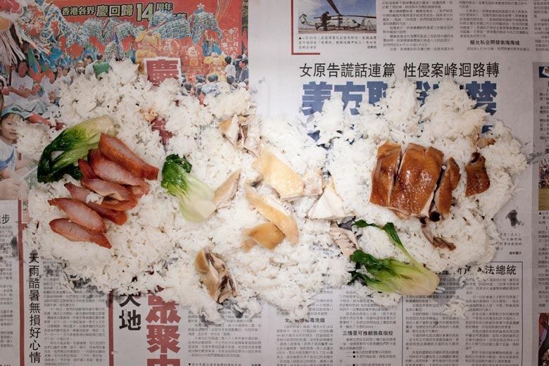 Rice with roast meats. From the series The Poverty Line - Hong Kong