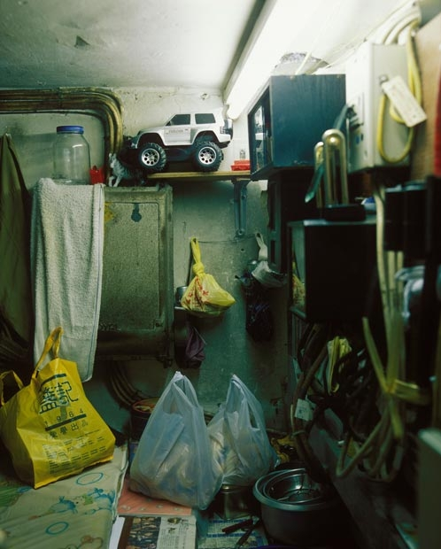 Home of the caretaker, Uncle Wong, under the stairs in the now demolished Lower Kai Yuen Lane.