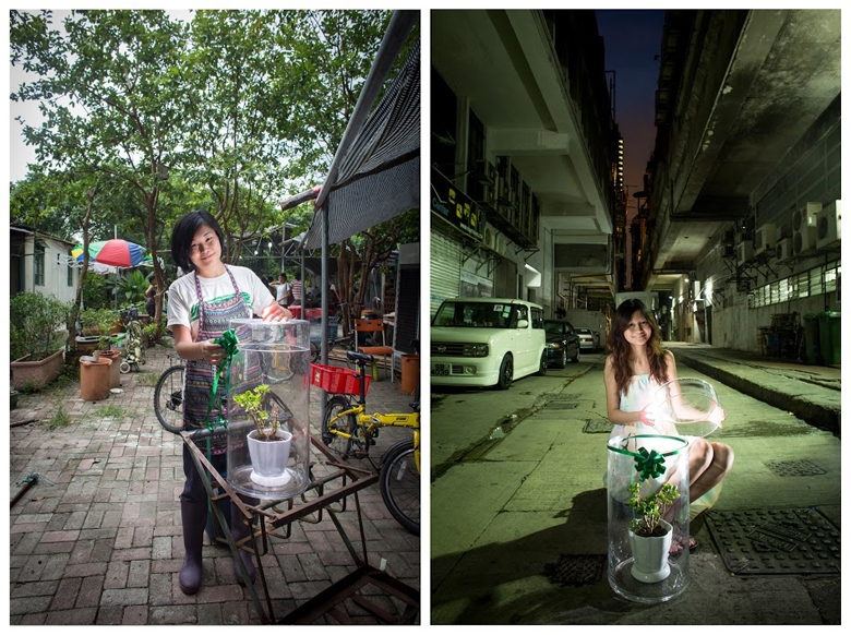 North East New Territories Suburbanite: Becky (Conversation Docent, Person-in-charge of Mapopo Farm) <P>Venue: Mashipo, North East New Territories </P><P>Urbanite: Macy </P><P>Venue: Industrial area of Kwun Tong  </P><P>Macy grew up in Kwun Tong. Now Kwun Tong is undergoing another big round of redevelopment. She feels sad every time she passes by areas being redeveloped. Becky is a beautiful girl who always smiles. Whenever she mentions the place she has lived with her Grandma for decades since her birth, and that she cannot save it from government demolition, she is moved to tears. Her father, mother and brother farm in Mapopo for a living. Becky and her friends established an organic farming cooperative, encouraging farmers in the village to grow organic crops, and helping them sell their crops.</P>